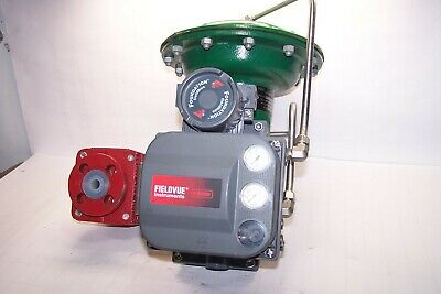 "Fisher 1/2"" Flanged Pneumatic Actuated Ball Valve Type 1052 Fieldvue Dvc6020F"