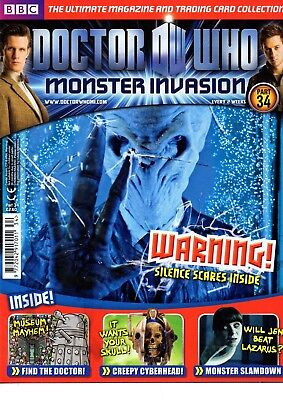 Dr Who Monster Invasion Collectable Trading Cards Magazine - Issue 34 - Read