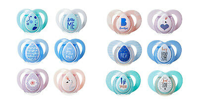 Baby Soother Dummy Nipple Tommee Tippee Pacifier  Boy Girl Night Time 2Pk