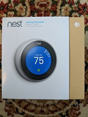 Nest T3007ES (3rd Generation) Learning Thermostat  - Stainless Steel