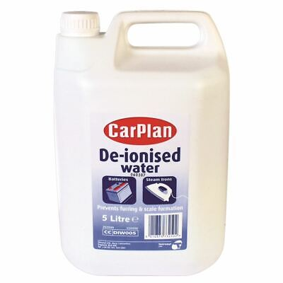 Carplan De-Ionised Water Prevents Furring Scale Formation Topping Up Battery 5L