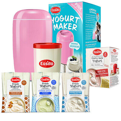 EasiYo Pink Yogurt Maker - Plus Five - Starter Pack