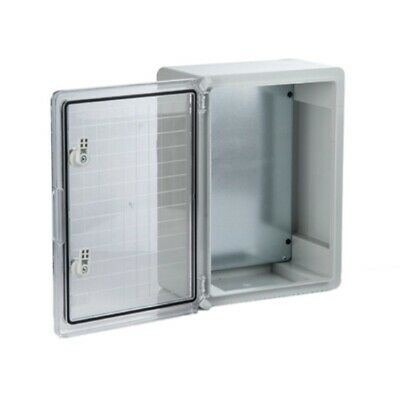 PP3020 IP65 Light Grey HB ABS Enclosure w/ Clear Door 250 D x 500 W x 700 H mm