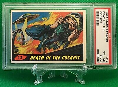 1962 Mars Attacks DEATH IN THE COCKPIT #12 NR MINT-MINT 8(OC) - Topps garno PSA