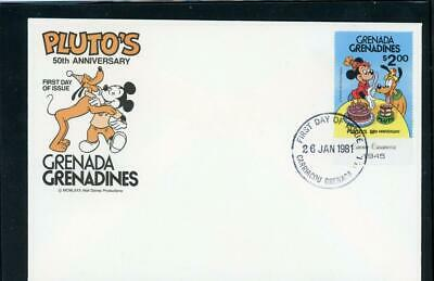 Disney 1981 Scott# 459 Cacheted Fdc Grenada gren