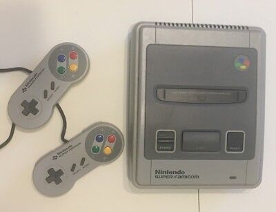 Nintendo Super FAMICOM NTSC-J Japanese Console With Two Controllers japan snes.
