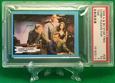 1969 Star Trek CORBY PLEADS FOR TIME #28 EXCELLENT 5 - A&BC garno PSA