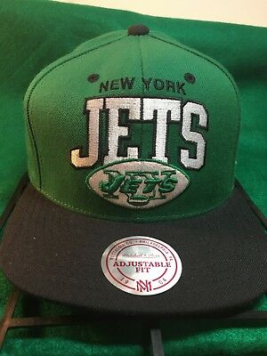 dd01b6dc8cd550 Mitchell & Ness NEW YORK JETS SnapBack NFL Cap/Hat Vintage Collection