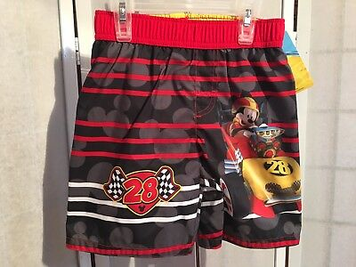 406d35a476fdd Disney Mickey Mouse And The Roadster Racers Toddler 4T Boys Swimwear Trunks  NWT