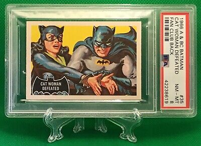 1966 Batman Fan Club CAT WOMAN DEFEATED #35 NEAR MINT-MINT 8 - A&BC garno PSA