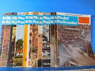 Model Railroader Magazine Complete Year 1970  12 issues