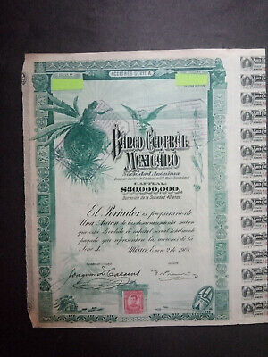 Lot   2 BANCO Centrale Mexicano 100 $ + coupons   non  annule