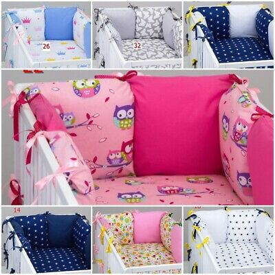 PILLOW BUMPER FOR COT / COT BED made from 6 cushions BEAUTIFUL COLOURS STARS
