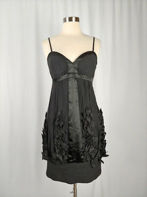 684d26df4db Sue Wong Nocturne Size 0 Black Silk Embellished Bubble Hem Sleeveless Dress