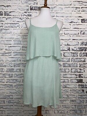 a48976029c5 Tobi Women s Size L Mint Green Open Back Sleeveless Dress Layered C