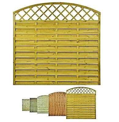 Wooden Timber Garden Lap Fence Panels Treated Fencing Overlap Quality 6ft x 6ft