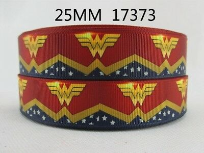 1 Metre New Wonder Woman Ribbon Size 1 Inch Hair Bows Headbands Birthday Cake