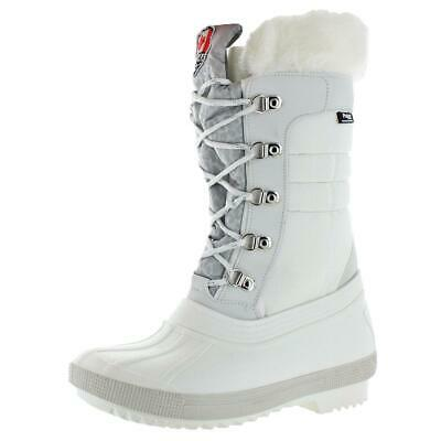 5ffbe5178cd4 Pajar Womens Debby White Waterproof Winter Boots Shoes 38-39 EU 8 US BHFO