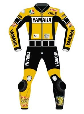 Yamaha Yellow N Black Motorbike Leather Suit Motogp Motorcycle Leather Suit