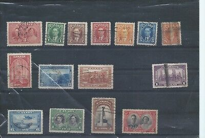 Canada stamps. George VI used lot. 1937 Coronation etc (Y023)