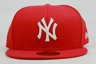 dd484f1e411 New York Yankees Red White Red Under Visor MLB New Era 59Fifty Fitted Hat  Cap NY