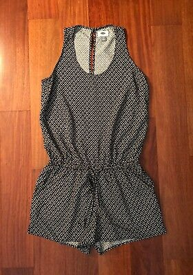 911061ded51 FRANCESCA S BLUE RAIN Navy and White Romper SIZE SMALL -  13.99 ...