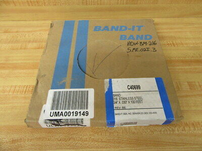 "Band-It C40699 316 Stainless Steel Banding 3/4"" 100'"