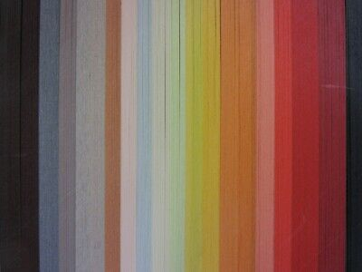 QUILLING PAPER 110gsm 6mm 500 Strips - 19 MIXED AUTUMN COLOURS