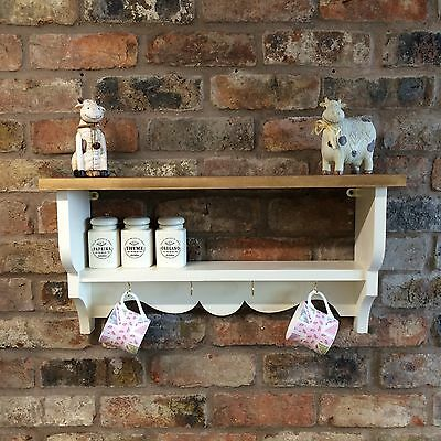 Shabby Chic/Country Kitchen/Cabinet/shelf Unit/wall Unit In New White