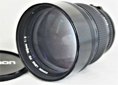 Canon New FD 135mm f/2 Manual Focus MF Telephoto Lens As-Is No 27372