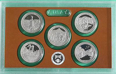 2011 America the Beautiful Quarters Proof Set ATB No Box from United States Mint