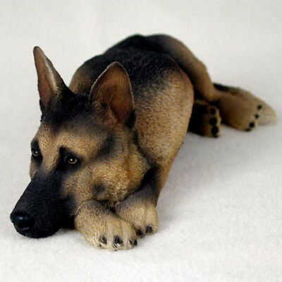GERMAN SHEPHERD  (TAN  BLACK) MY  DOG  Figurine Statue Gift Resin Hand Painted