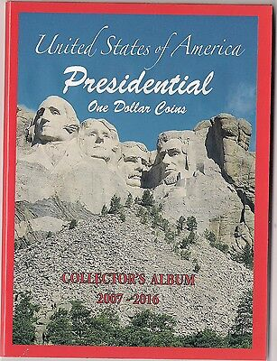 Presidential $ one Dollar Coin Album  folder  2007-2016 buy 2 get 1 free