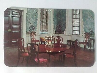 Vintage Postcard Supper Room of the Governor's Palace- Williamsburg, VA