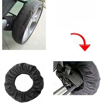 Baby Stroller Wheel AntiDirty Case Dustproof Fabric Protection Cover Black 6L