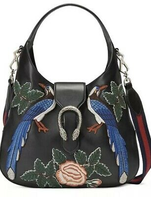 443eae607 Nwt 100% Auth Gucci Dionysus Hobo Bag Embroidered Birds Floral Shoulder New!
