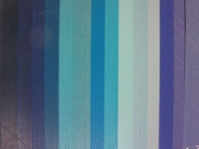 QUILLING PAPER 110gsm 9mm 500 Strips - 14 MIXED BLUE COLOURS