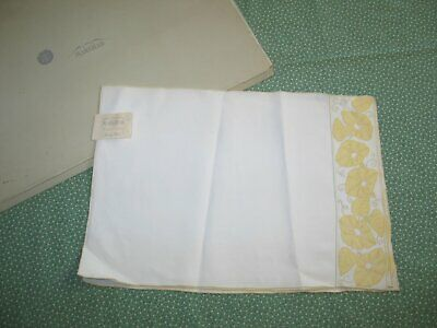 Vintage 3 piece Placemat Breakfast Set MARGHAB Morning Glory MADEIRA-UNUSED-NWT