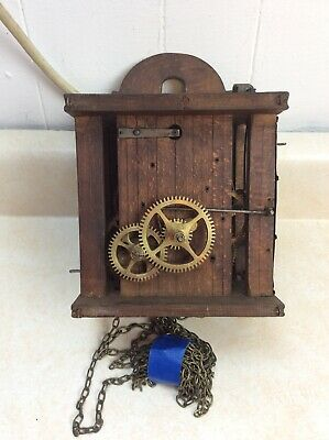 Antique German  30 Hour  Wag on the Wall Clock Movement, Parts / Repairs