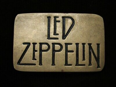 Ra15174 Vintage 1980 *Led Zeppelin* Music Band Commemorative Solid Brass Buckle