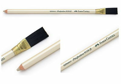 Faber-Castell Perfection 7058 Eraser Pencil Type With Brush White Hard Office