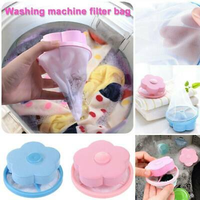 Laundry Filter Bag Floating Pet Lint Hair Catcher  Washing Machine Mesh Pouch 2P