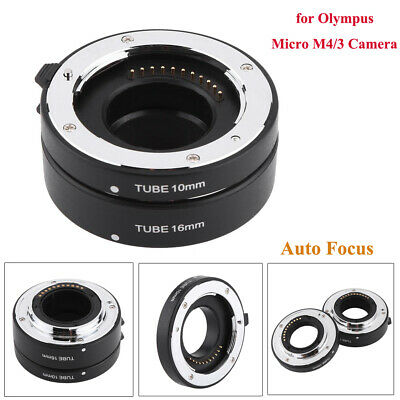 Auto-focus Macro Extension Tube Set 10mm&16mm for Olympus Panasonic Micro M4/3 Z