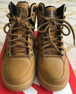 76813b9c7ea4 NIKE AIR FORCE 1 Son Of Force Mid Winter Beige Wheat High Top ...