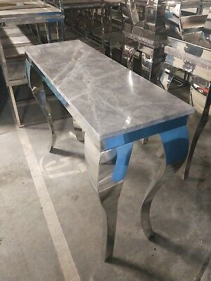 Marble Tall Table (Good condition - Ex Hotel Stock)