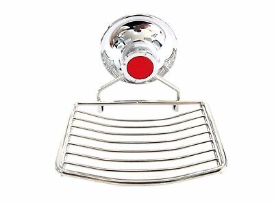 Stainless Wire Soap Dish Tray Vacuum Suction Cup Holder Bathroom Wall Attach_EN