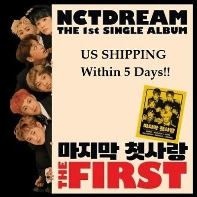 US SHIPPING NCT Dream - [The First] 1st Single Album CD+Booklet+PhotoCard