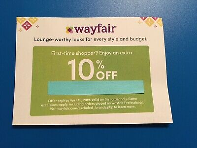Wayfair 10% off coupon on first order only, for new customer