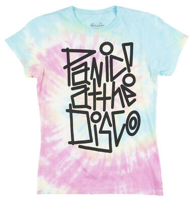 e971a7c0 PANIC AT THE Disco Tie Dye T-Shirt Womens Rock Music Pop Tee ...