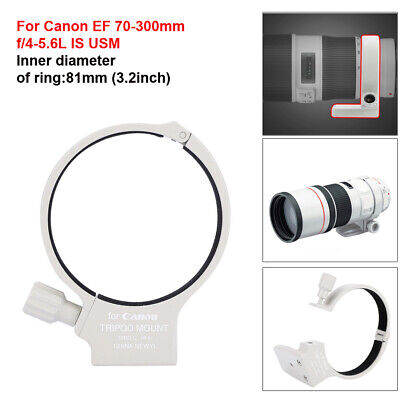 81mm Tripod Collar Mount Lens Adapter Ring for Canon EF 70-300mm f/4-5.6L IS USM